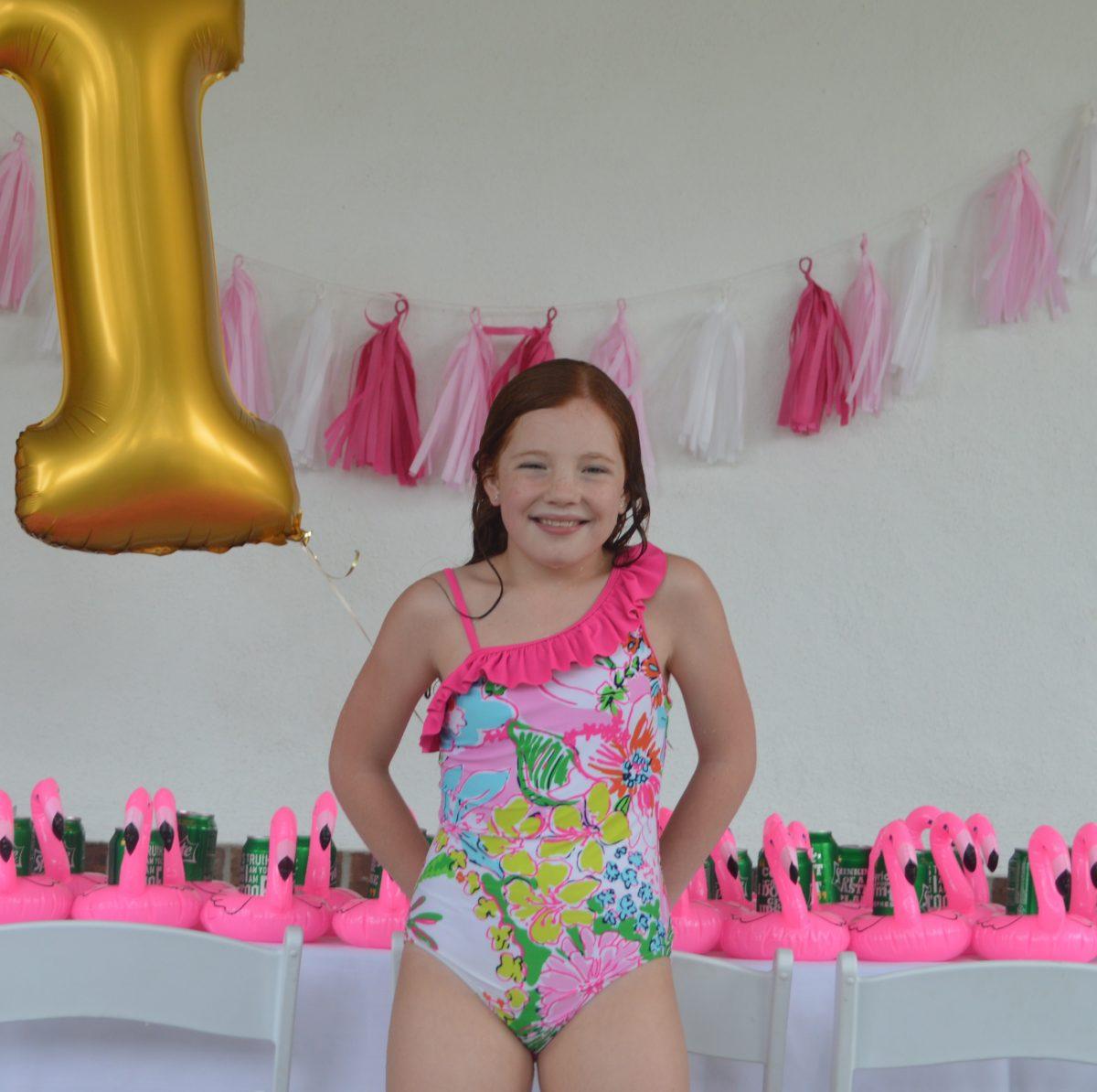 Harper's Pink Flamingo Pool Party