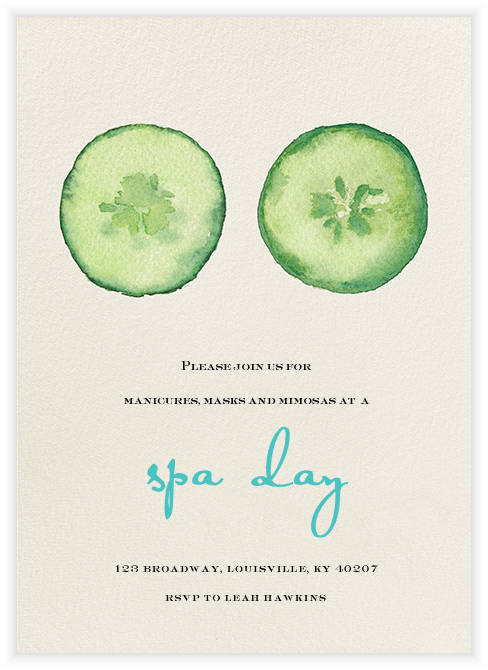 A Spa Day Party