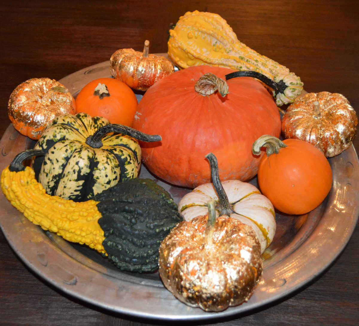 Gold Leaf Pumpkins