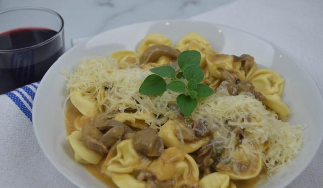 Brie and Mushroom Tortellini