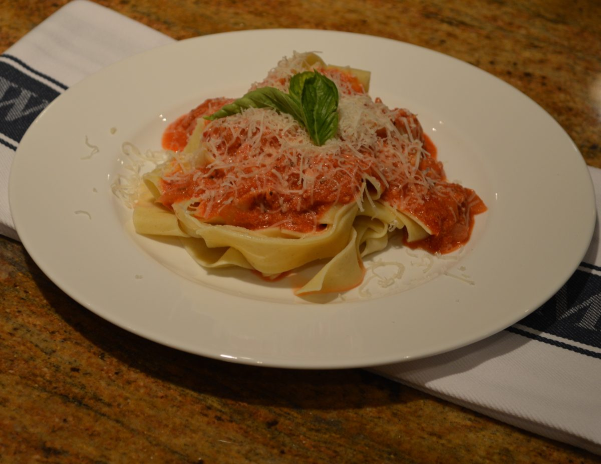 Pappardelle with Vodka Sauce