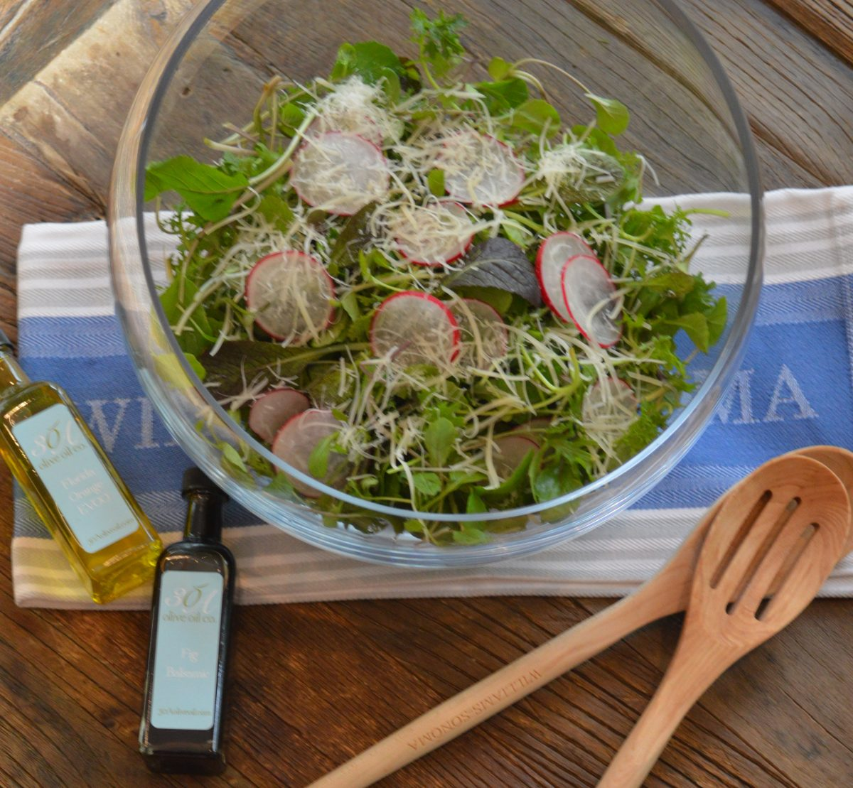 Spring Salad with Fig and Citrus Vinaigrette