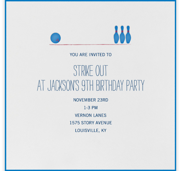 Jackson's Bowling Birthday Party