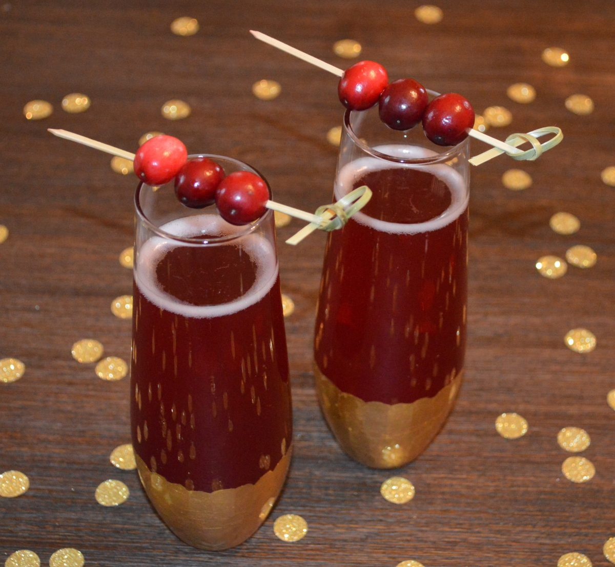 Cranberry Champagne Cocktails