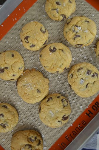 Salted Chocolate Chip Cookies  4