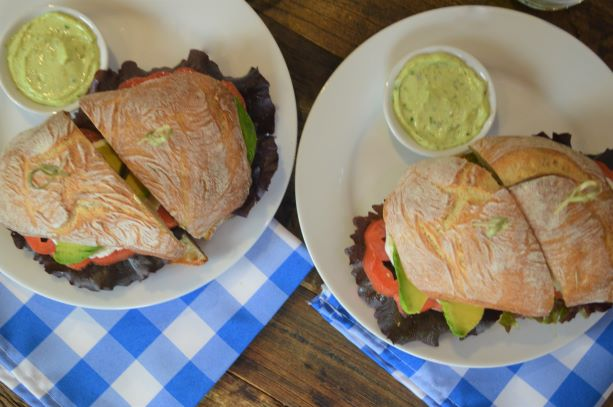 Avocado Lettuce and Tomato Sandwiches