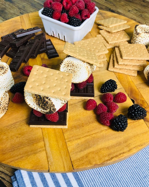 Dark Chocolate Berry S'mores