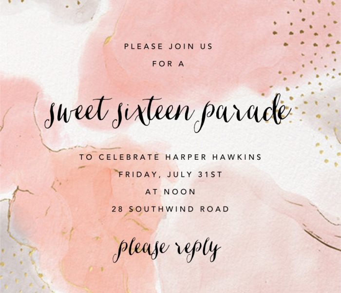 Harper's Sweet 16 Birthday Parade